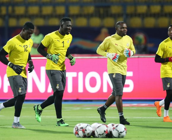 Ghana team warming up during the 2019 Africa Cup of Nations Last 16 match between Ghana and Tunisia at the Ismailia Stadium, Ismailia on the 08 July 2019 ©Muzi Ntombela/BackpagePix
