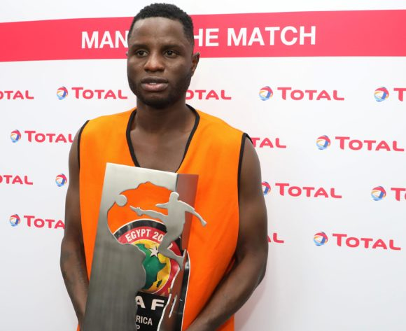 Mubarak Wakaso of Ghana wins TOTAL man of the match award during the 2019 Africa Cup of Nations Last 16 match between Ghana and Tunisia at the Ismailia Stadium, Ismailia on the 08 July 2019 ©Muzi Ntombela/BackpagePix