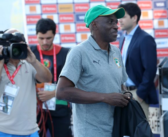 Ibrahim Kamara, head coach of Ivory Coast arrives during the 2019 Africa Cup of Nations Finals last 16 match between Mali and Ivory Coast at Suez Stadium, Suez, Egypt on 08 July 2019 ©Samuel Shivambu/BackpagePix
