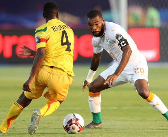 Amadou Haidara of Mali and Die Serey of Ivory Coast during the 2019 Africa Cup of Nations Finals last 16 match between Mali and Ivory Coast at Suez Stadium, Suez, Egypt on 08 July 2019 ©Samuel Shivambu/BackpagePix