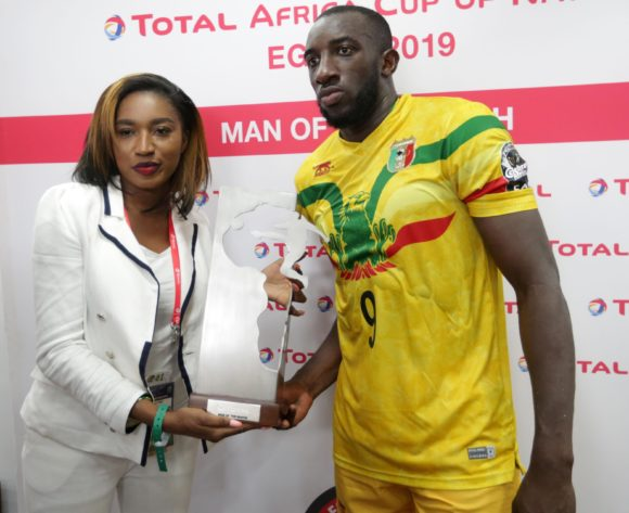 Moussa Marega of Mali wins Man of the Match Award during the 2019 Africa Cup of Nations Finals last 16 match between Mali and Ivory Coast at Suez Stadium, Suez, Egypt on 08 July 2019 ©Samuel Shivambu/BackpagePix