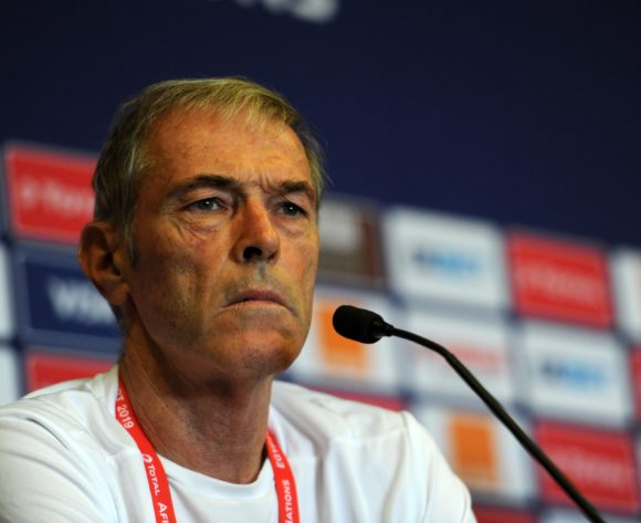 Michel Dussuyer, head coach of Benin during the 2019 Africa Cup of Nations Finals press conference for Benin at 30 June Stadium in Cairo, Egypt on 09 July 2019 © Ryan Wilkisky/BackpagePix
