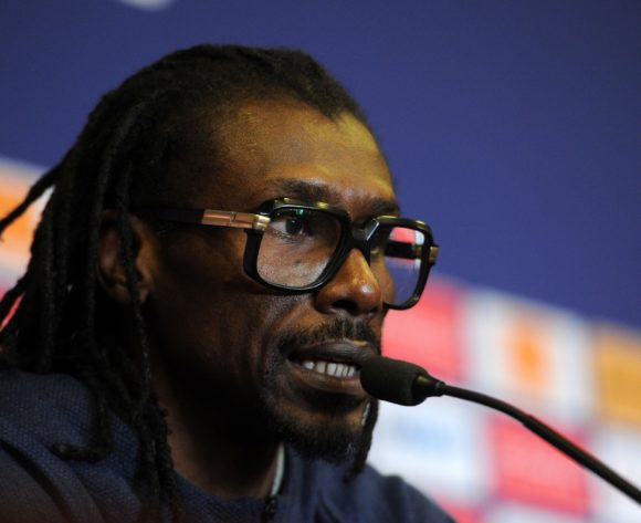 Aliou Cisse, head coach of Senegal during the 2019 Africa Cup of Nations Finals press conference for Senegal at 30 June Stadium in Cairo, Egypt on 09 July 2019 © Ryan Wilkisky/BackpagePix
