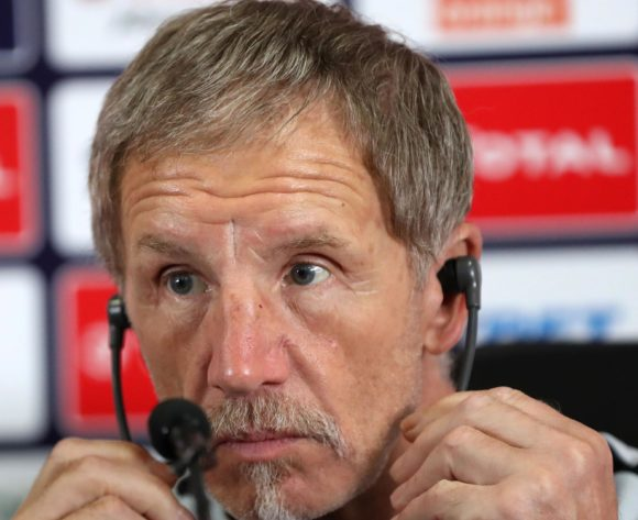 Stuart Baxter, head coach of South Africa during the 2019 Africa Cup of Nations Finals, quarter-finals South Africa press conference at Cairo International Stadium, Cairo, Egypt on 09 July 2019 ©Samuel Shivambu/BackpagePix