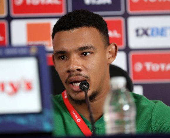 Ronwen Williams of South Africa during the 2019 Africa Cup of Nations Finals, quarter-finals South Africa press conference at Cairo International Stadium, Cairo, Egypt on 09 July 2019 ©Samuel Shivambu/BackpagePix