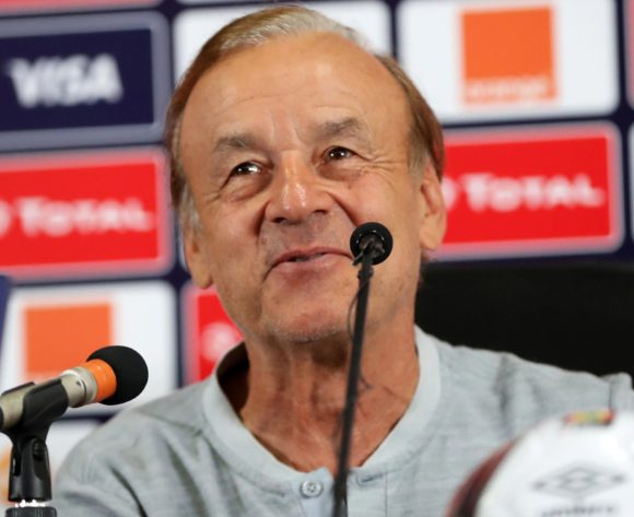 Gernot Rohr, head coach of Nigeria during the 2019 Africa Cup of Nations Finals, quarter-finals Nigeria press conference at Cairo International Stadium, Cairo, Egypt on 09 July 2019 ©Samuel Shivambu/BackpagePix