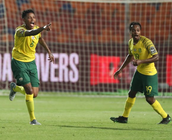 Bongani Zungu of South Africa celebrates goal after VAR decision during the 2019 Africa Cup of Nations Finals Quarterfinal football match between Nigeria and South Africa at the Cairo International Stadium, Cairo, Egypt on 10 July 2019 ©Gavin Barker/BackpagePix