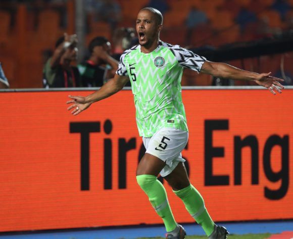 William Paul Ekong of Nigeria celebrates goal during the 2019 Africa Cup of Nations Finals Quarterfinal football match between Nigeria and South Africa at the Cairo International Stadium, Cairo, Egypt on 10 July 2019 ©Gavin Barker/BackpagePix