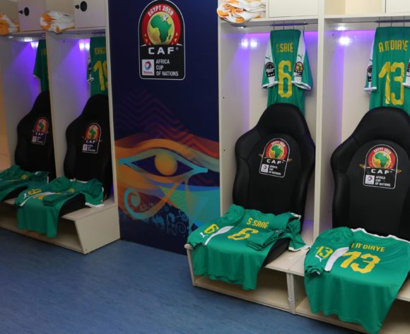 Senegal dressing room during the 2019 Africa Cup of Nations Quarterfinals match between Senegal and Benin at the 30 June Stadium, Cairo on the 10 July 2019 ©Muzi Ntombela/BackpagePix