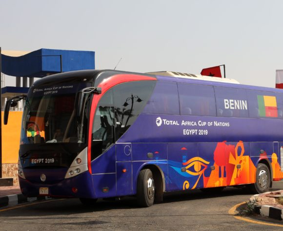 Benin bus during the 2019 Africa Cup of Nations Quarterfinals match between Senegal and Benin at the 30 June Stadium, Cairo on the 10 July 2019 ©Muzi Ntombela/BackpagePix