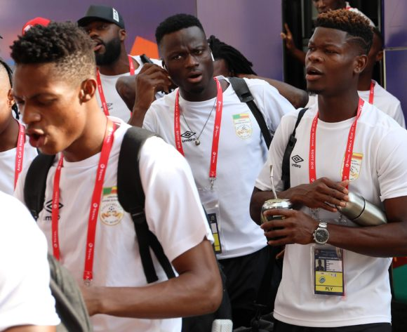 Benin team arrival during the 2019 Africa Cup of Nations Quarterfinals match between Senegal and Benin at the 30 June Stadium, Cairo on the 10 July 2019 ©Muzi Ntombela/BackpagePix