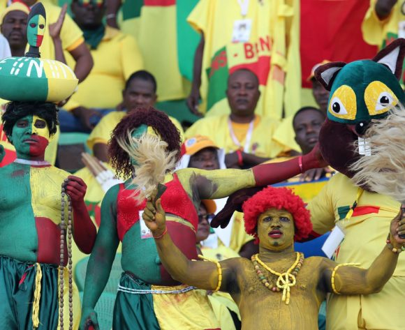 Benin fans during the 2019 Africa Cup of Nations Quarterfinals match between Senegal and Benin at the 30 June Stadium, Cairo on the 10 July 2019 ©Muzi Ntombela/BackpagePix