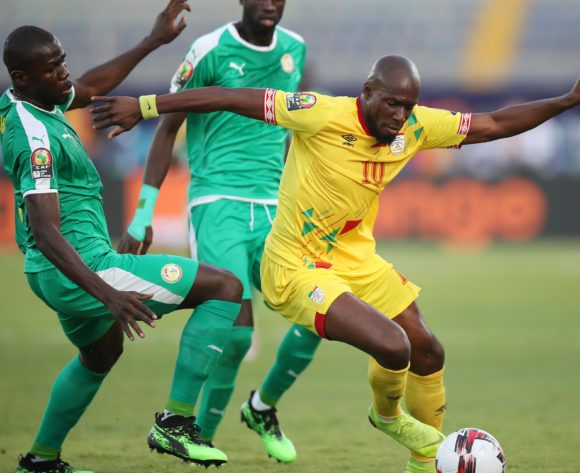 Mickael Pote of Benin challenged by Kalidou Koulibaly of Senegal during the 2019 Africa Cup of Nations Quarterfinals match between Senegal and Benin at the 30 June Stadium, Cairo on the 10 July 2019 ©Muzi Ntombela/BackpagePix