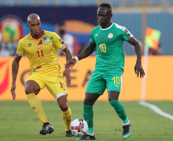 Sadio Mane of Senegal challenged by Emmanuelle Imorou of Benin during the 2019 Africa Cup of Nations Quarterfinals match between Senegal and Benin at the 30 June Stadium, Cairo on the 10 July 2019 ©Muzi Ntombela/BackpagePix