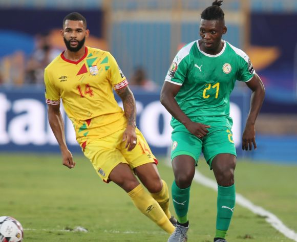 Lamine Gassama of Senegal challenged by Cebio Soukou of Benin during the 2019 Africa Cup of Nations Quarterfinals match between Senegal and Benin at the 30 June Stadium, Cairo on the 10 July 2019 ©Muzi Ntombela/BackpagePix