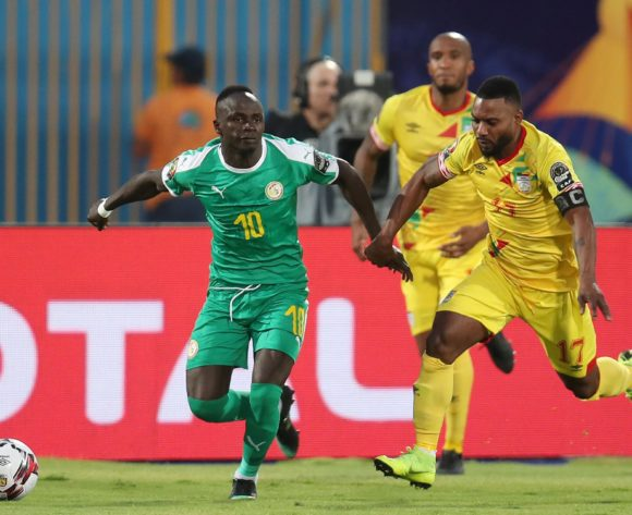 Sadio Mane of Senegal challenged by Stephane Sessegnon of Benin during the 2019 Africa Cup of Nations Quarterfinals match between Senegal and Benin at the 30 June Stadium, Cairo on the 10 July 2019 ©Muzi Ntombela/BackpagePix