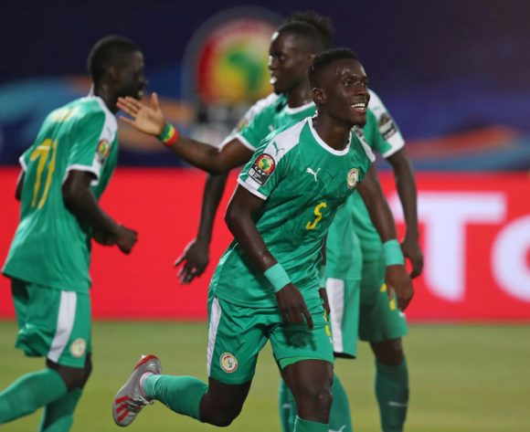 Idrissa Gana Gueye of Senegal celebrates goal during the 2019 Africa Cup of Nations Quarterfinals match between Senegal and Benin at the 30 June Stadium, Cairo on the 10 July 2019 ©Muzi Ntombela/BackpagePix