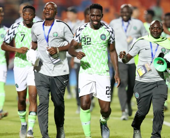 Nigeria players celebrates during the 2019 Africa Cup of Nations Quarterfinals match between Nigeria and South Africa at the Cairo International Stadium, Cairo on the 10 July 2019 ©Muzi Ntombela/BackpagePix