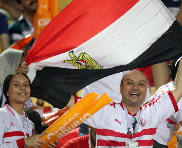 Fans during the 2019 Africa Cup of Nations Quarterfinals match between Madagascar and Tunisia at the Al Salam Stadium, Cairo on the 10 July 2019 ©Muzi Ntombela/BackpagePix