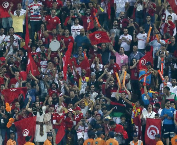 Tunisia fans celebrates during the 2019 Africa Cup of Nations Quarterfinals match between Madagascar and Tunisia at the Al Salam Stadium, Cairo on the 10 July 2019 ©Muzi Ntombela/BackpagePix