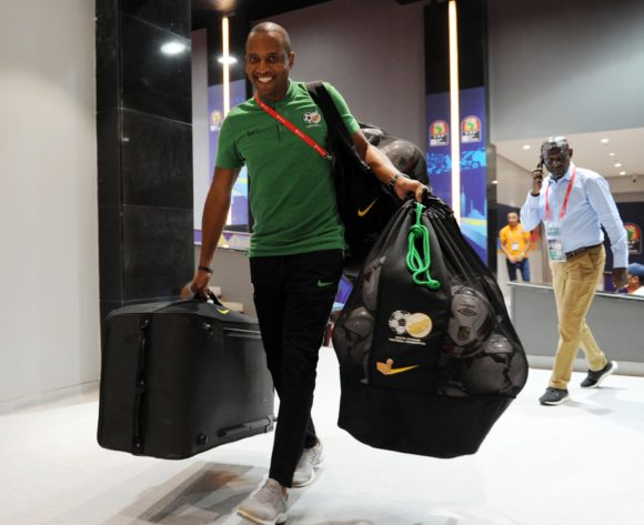 South Africa kit staff arrive before the 2019 Africa Cup of Nations Finals quarterfinal game between Nigeria and South Africa at Cairo International Stadium in Egypt on 10 July 2019 © Ryan Wilkisky/BackpagePix