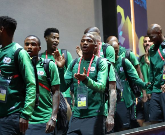 South Africa players arrives during the 2019 Africa Cup of Nations Finals, quarterfinals match between Nigeria and South Africa at Cairo International Stadium, Cairo, Egypt on 10 July 2019 ©Samuel Shivambu/BackpagePix