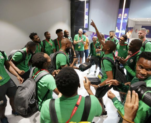 South Africa players arrivals during the 2019 Africa Cup of Nations Finals, quarterfinals match between Nigeria and South Africa at Cairo International Stadium, Cairo, Egypt on 10 July 2019 ©Samuel Shivambu/BackpagePix