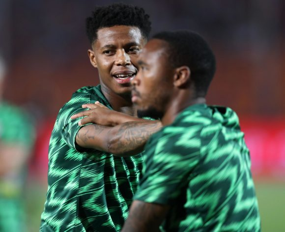 Bongani Zungu and Sibusiso Vilakazi of South Africa warm up during the 2019 Africa Cup of Nations Finals, quarterfinals match between Nigeria and South Africa at Cairo International Stadium, Cairo, Egypt on 10 July 2019 ©Samuel Shivambu/BackpagePix