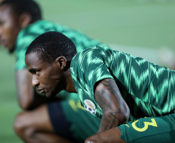 Thembinkosi Lorch of South Africa warm up during the 2019 Africa Cup of Nations Finals, quarterfinals match between Nigeria and South Africa at Cairo International Stadium, Cairo, Egypt on 10 July 2019 ©Samuel Shivambu/BackpagePix