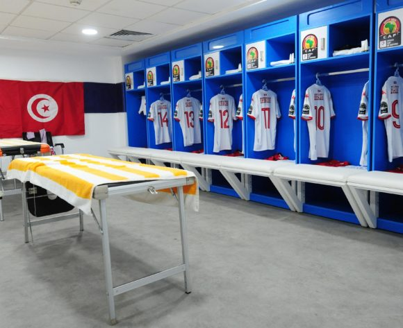 Tunisia dressing room before the Africa Cup of Nations 2019 Finals quarterfinal game between Madagascar and Tunisia at Al Salam Stadium in Cairo, Egypt on 11 July 2019 © Ryan Wilkisky/BackpagePix