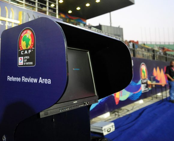 General view of the VAR Referee Review area at the Africa Cup of Nations 2019 Finals quarterfinal game between Madagascar and Tunisia at Al Salam Stadium in Cairo, Egypt on 11 July 2019 © Ryan Wilkisky/BackpagePix