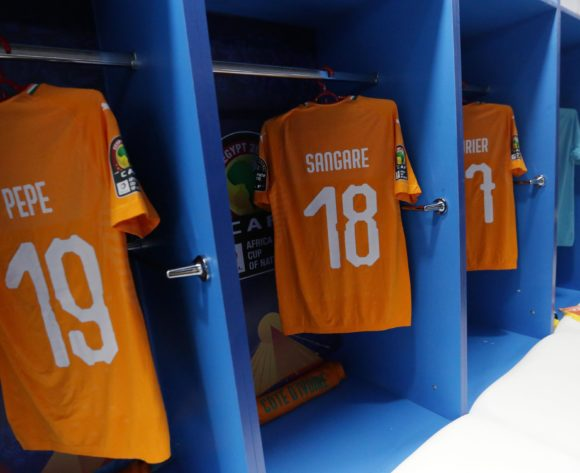 Ivory Coast changeroom general view during the 2019 Africa Cup of Nations Finals, quarterfinals match between Ivory Coast and Algeria at Suez Stadium, Suez, Egypt on 11 July 2019 ©Samuel Shivambu/BackpagePix