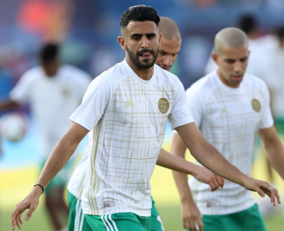 Riyad Mahrez of Algeria warm up during the 2019 Africa Cup of Nations Finals, quarterfinals match between Ivory Coast and Algeria at Suez Stadium, Suez, Egypt on 11 July 2019 ©Samuel Shivambu/BackpagePix