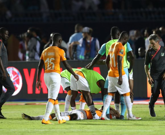 Geoffroy Die Serey of Ivory Coast reacts in disappointment after missed penalty during the 2019 Africa Cup of Nations Finals, quarterfinals match between Ivory Coast and Algeria at Suez Stadium, Suez, Egypt on 11 July 2019 ©Samuel Shivambu/BackpagePix