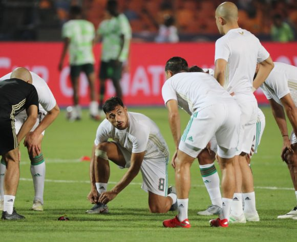 Mohamed Belaili of Algeria  during the 2019 Africa Cup of Nations Finals Semifinal football match between Algeria and Nigeria at the Cairo International Stadium, Cairo, Egypt on 14 July 2019 ©Gavin Barker/BackpagePix