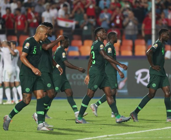 William Paul Ekong of Nigeria (l) reacts in disappointment after scoring an own goal during the 2019 Africa Cup of Nations Finals Semifinal football match between Algeria and Nigeria at the Cairo International Stadium, Cairo, Egypt on 14 July 2019 ©Gavin Barker/BackpagePix