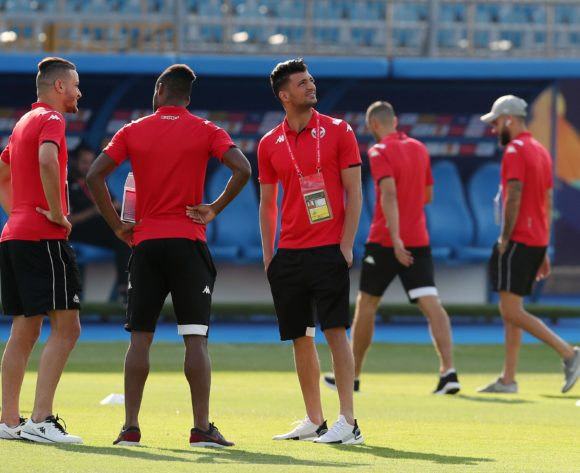 Tunisia Players during the 2019 Africa Cup of Nations Semifinals match between Senegal and Tunisia at the 30 June Stadium, Cairo on the 14 July 2019 ©Muzi Ntombela/BackpagePix