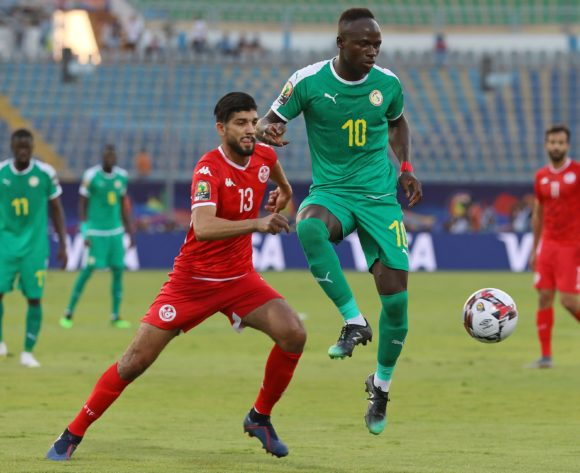 Sadio Mane of Senegal challenged by Ferjani Sassi of Tunisia during the 2019 Africa Cup of Nations Semifinals match between Senegal and Tunisia at the 30 June Stadium, Cairo on the 14 July 2019 ©Muzi Ntombela/BackpagePix