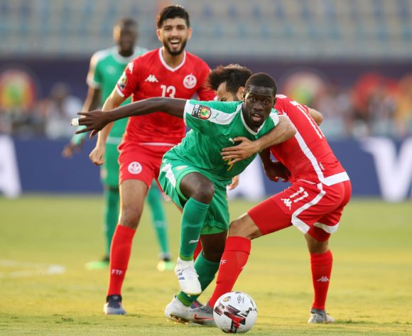 Papa Alioune Ndiaye of Senegal challenged by Taha Yassine Khenissi of Tunisia during the 2019 Africa Cup of Nations Semifinals match between Senegal and Tunisia at the 30 June Stadium, Cairo on the 14 July 2019 ©Muzi Ntombela/BackpagePix