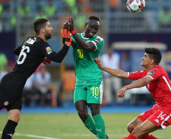 Sadio Mane of Senegal challenged by Drager Mohamed of Tunisia during the 2019 Africa Cup of Nations Semifinals match between Senegal and Tunisia at the 30 June Stadium, Cairo on the 14 July 2019 ©Muzi Ntombela/BackpagePix