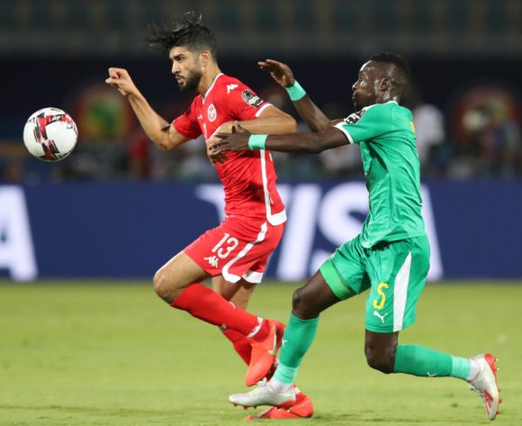 Ferjani Sassi of Tunisia challenged by Idrissa Gana Gueye of Senegal during the 2019 Africa Cup of Nations Semifinals match between Senegal and Tunisia at the 30 June Stadium, Cairo on the 14 July 2019 ©Muzi Ntombela/BackpagePix