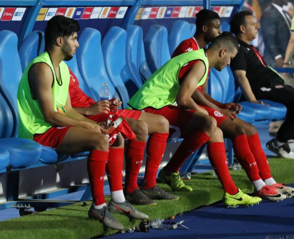 Tunisia players dejected after game during the 2019 Africa Cup of Nations Semifinals match between Senegal and Tunisia at the 30 June Stadium, Cairo on the 14 July 2019 ©Muzi Ntombela/BackpagePix
