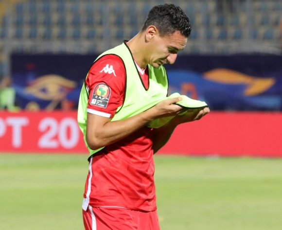 Karim Aouadhi of Tunisia dejected during the 2019 Africa Cup of Nations Semifinals match between Senegal and Tunisia at the 30 June Stadium, Cairo on the 14 July 2019 ©Muzi Ntombela/BackpagePix
