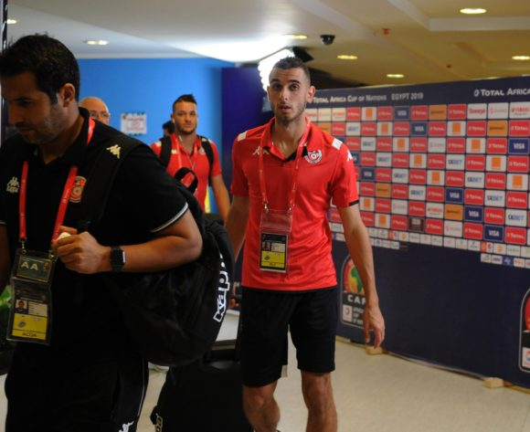 Tunisia players arrive before the Africa Cup of Nations 2019 Finals semifinal game between Senegal and Tunisia at 30 June Stadium in Cairo, Egypt on 14 July 2019 © Ryan Wilkisky/BackpagePix