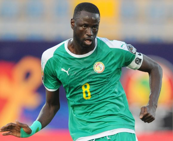 Cheikhou Kouyate of Senegal during the Africa Cup of Nations 2019 Finals semifinal game between Senegal and Tunisia at 30 June Stadium in Cairo, Egypt on 14 July 2019 © Ryan Wilkisky/BackpagePix