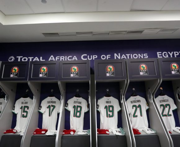 Algeria changeroom general view during the 2019 Africa Cup of Nations Finals, Semifinals match between Algeria and Nigeria at Cairo International Stadium, Cairo, Egypt on 14 July 2019 ©Samuel Shivambu/BackpagePix