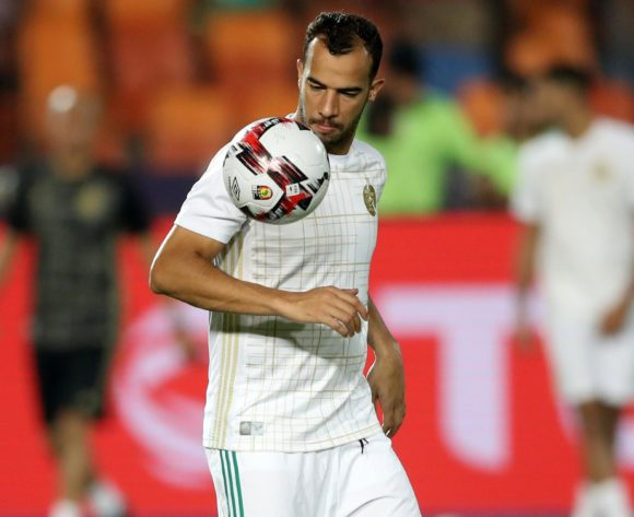 Djamel Benlamri of Algeria warm up during the 2019 Africa Cup of Nations Finals, Semifinals match between Algeria and Nigeria at Cairo International Stadium, Cairo, Egypt on 14 July 2019 ©Samuel Shivambu/BackpagePix