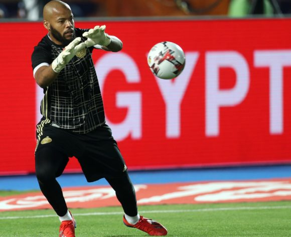 Adi Mbolhi Rais of Algeria warm up during the 2019 Africa Cup of Nations Finals, Semifinals match between Algeria and Nigeria at Cairo International Stadium, Cairo, Egypt on 14 July 2019 ©Samuel Shivambu/BackpagePix