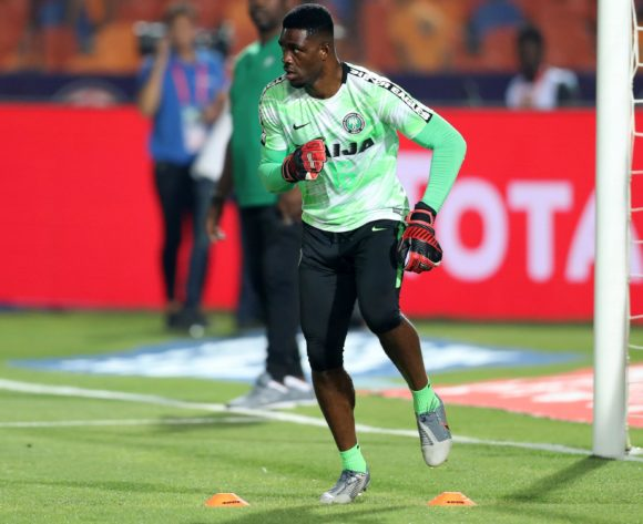 Daniel Akpeyi of Nigeria warm up during the 2019 Africa Cup of Nations Finals, Semifinals match between Algeria and Nigeria at Cairo International Stadium, Cairo, Egypt on 14 July 2019 ©Samuel Shivambu/BackpagePix