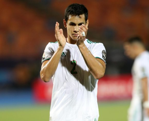 Aissa Mandi of Algeria during the 2019 Africa Cup of Nations Finals, Semifinals match between Algeria and Nigeria at Cairo International Stadium, Cairo, Egypt on 14 July 2019 ©Samuel Shivambu/BackpagePix